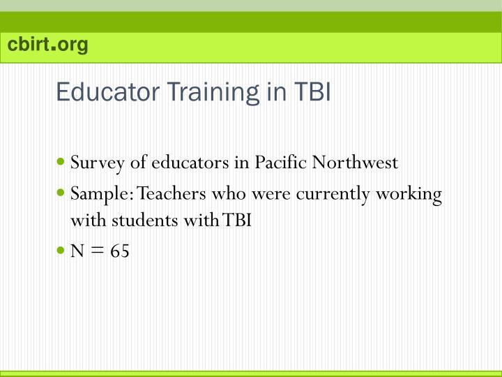 Educator Training in TBI