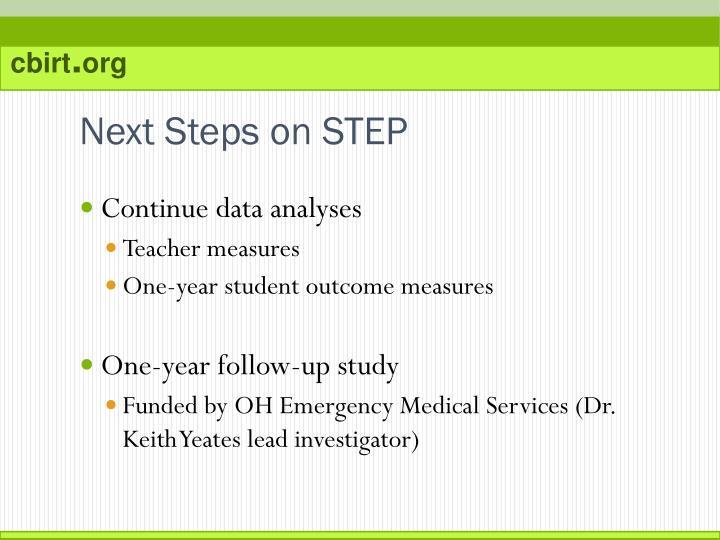 Next Steps on STEP