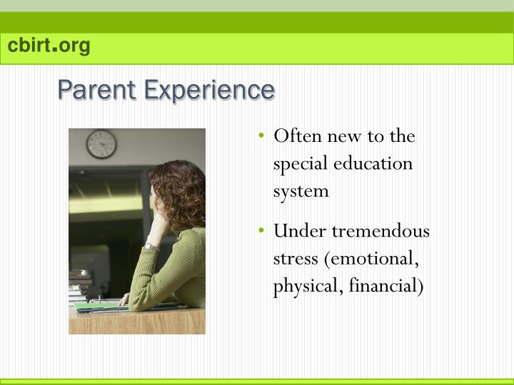 Often new to the special education system