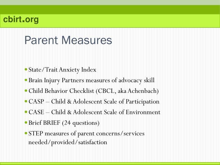 Parent Measures