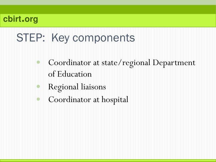 STEP:  Key components