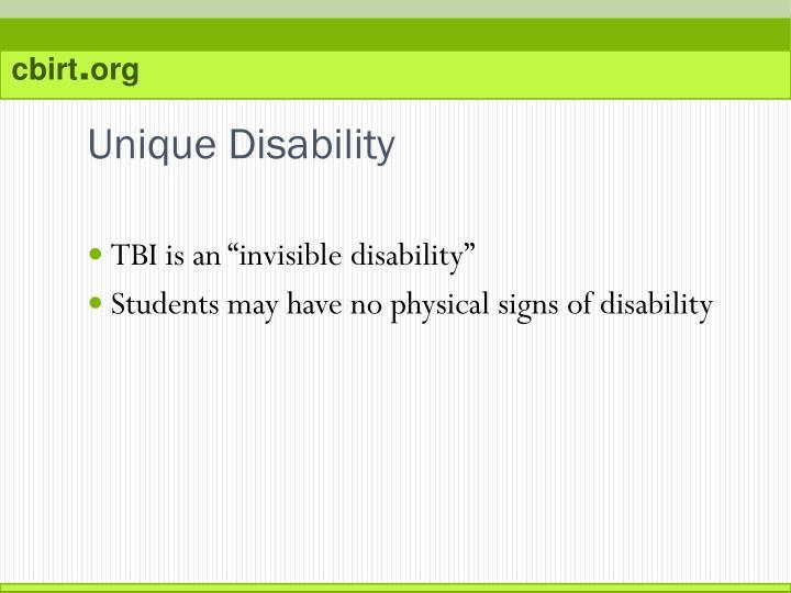Unique Disability
