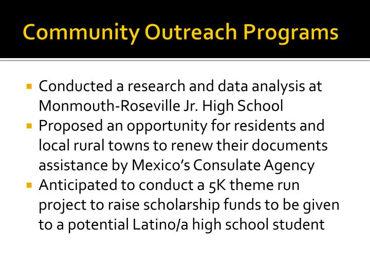 Community Outreach Programs