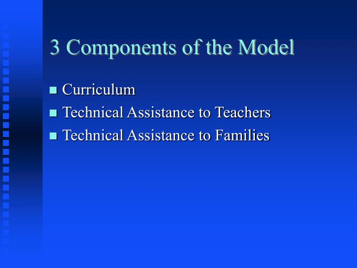 3 Components of the Model