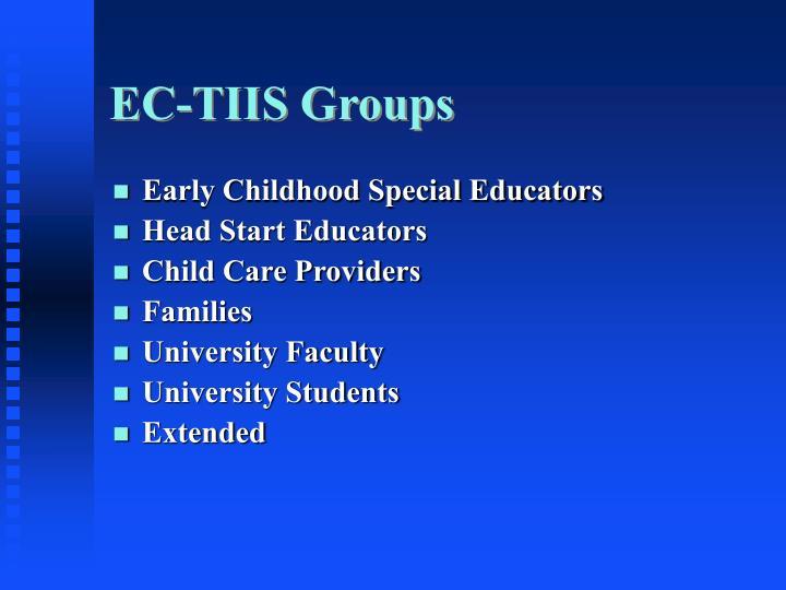 EC-TIIS Groups