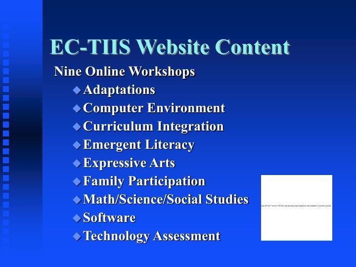EC-TIIS Website Content