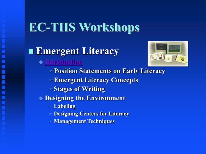 EC-TIIS Workshops