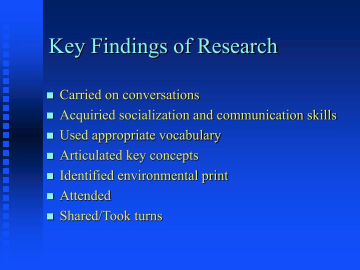 Key Findings of Research