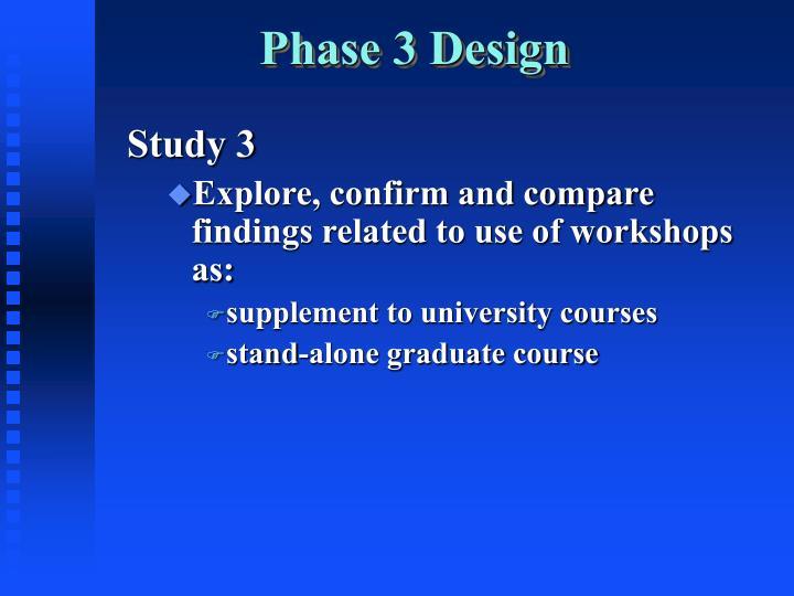 Phase 3 Design