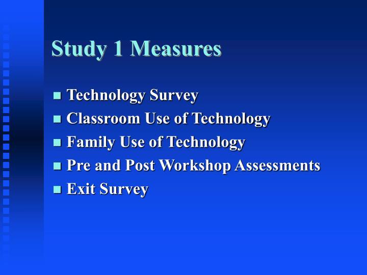 Study 1 Measures