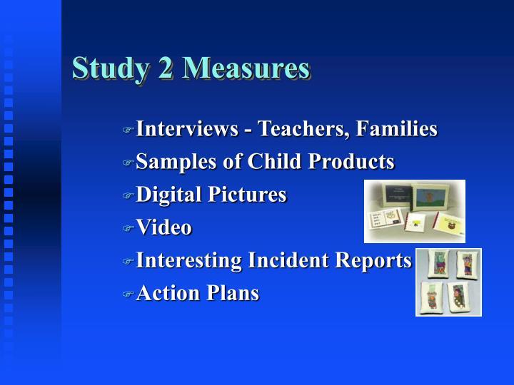 Study 2 Measures