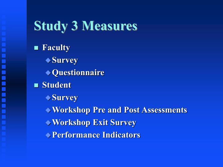 Study 3 Measures