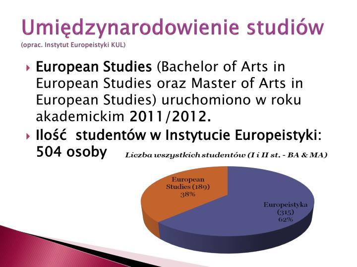 Umiędzynarodowienie studiów