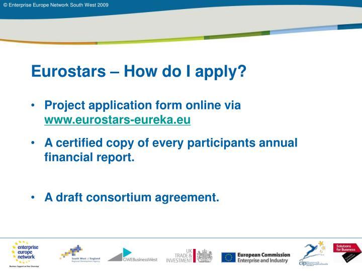 Eurostars – How do I apply?