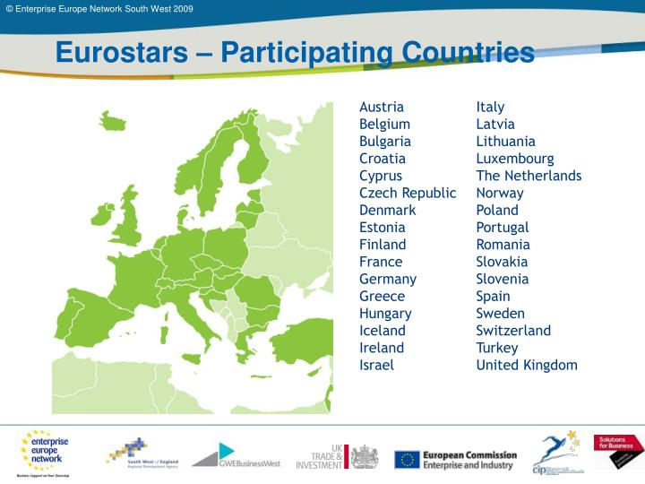 Eurostars – Participating Countries