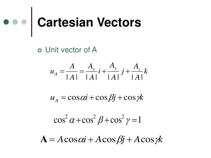 Cartesian Vectors