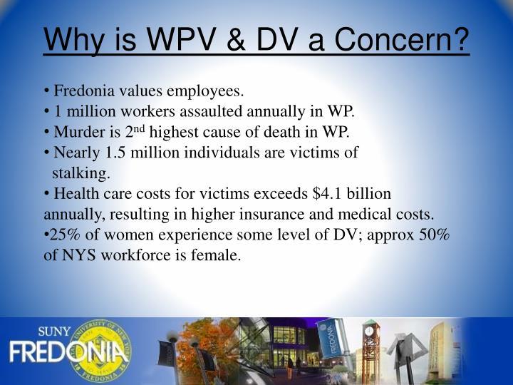 Why is WPV & DV a Concern?