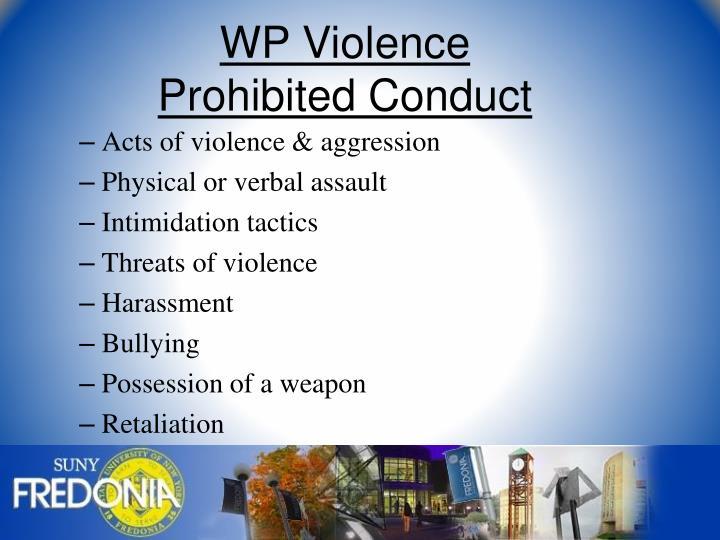 WP Violence