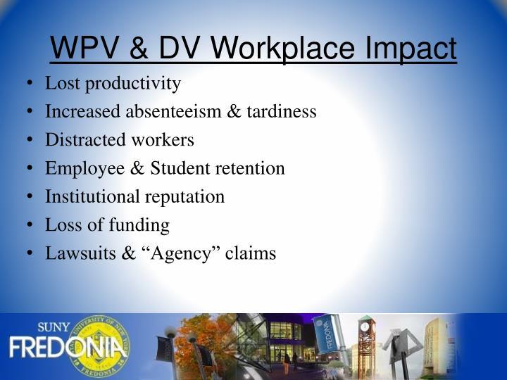 WPV & DV Workplace Impact