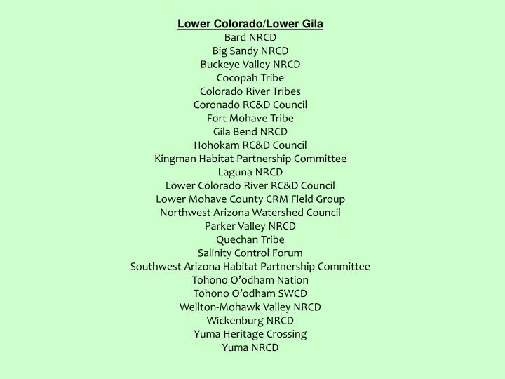 Lower Colorado/Lower Gila