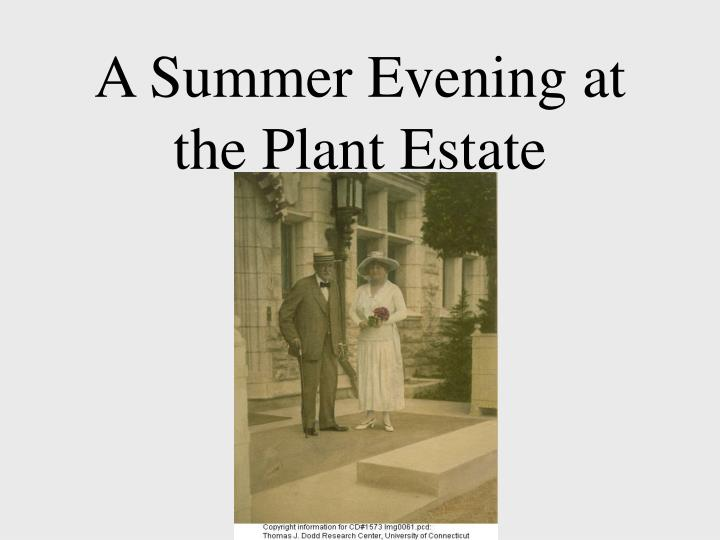 A summer evening at the plant estate