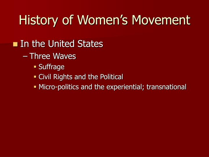 History of women s movement