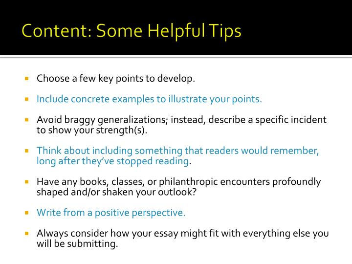 Content: Some Helpful Tips