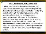 1122 program background