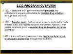 1122 program overview