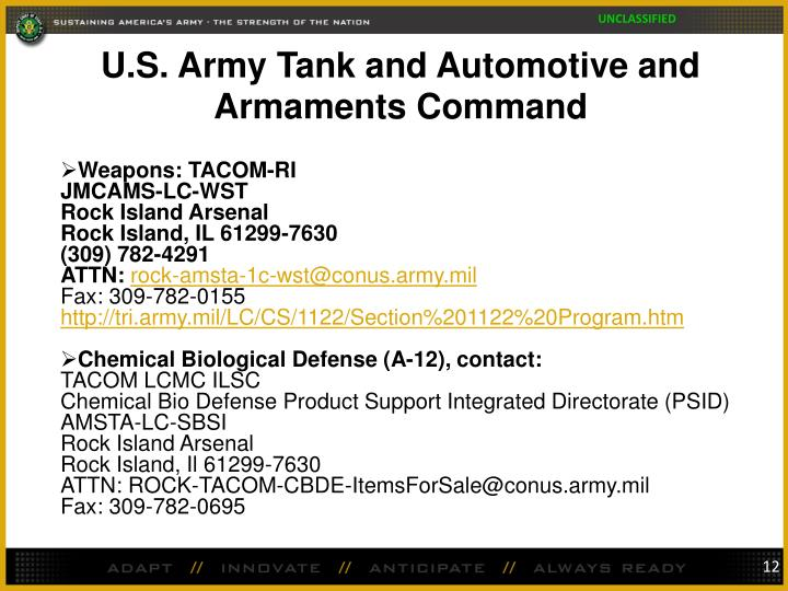 U.S. Army Tank and Automotive and Armaments Command