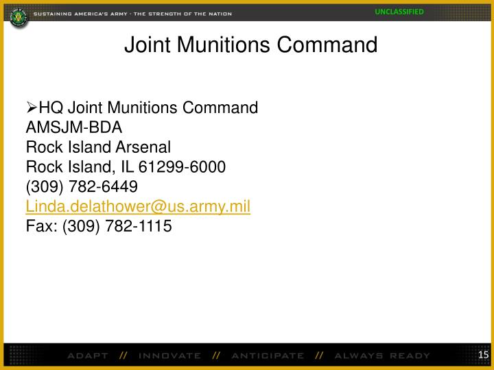 Joint Munitions Command
