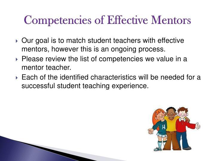 Competencies of Effective Mentors
