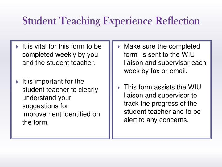 Student Teaching Experience Reflection