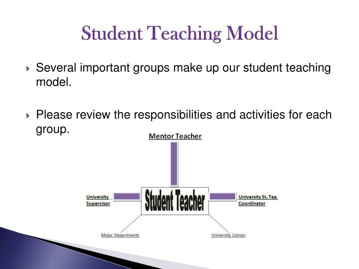 Student Teaching Model