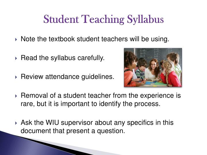 Student Teaching Syllabus