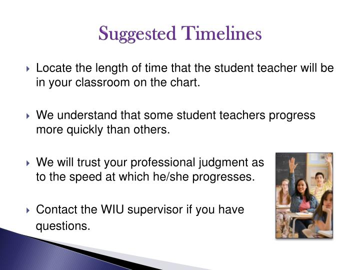 Suggested Timelines