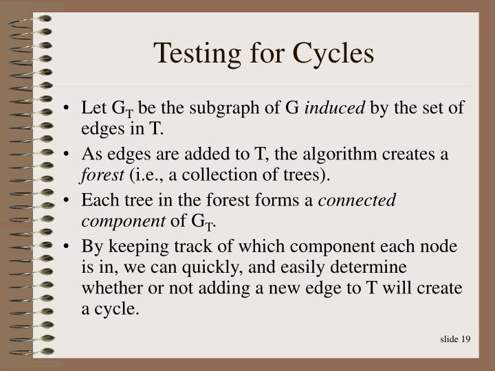Testing for Cycles