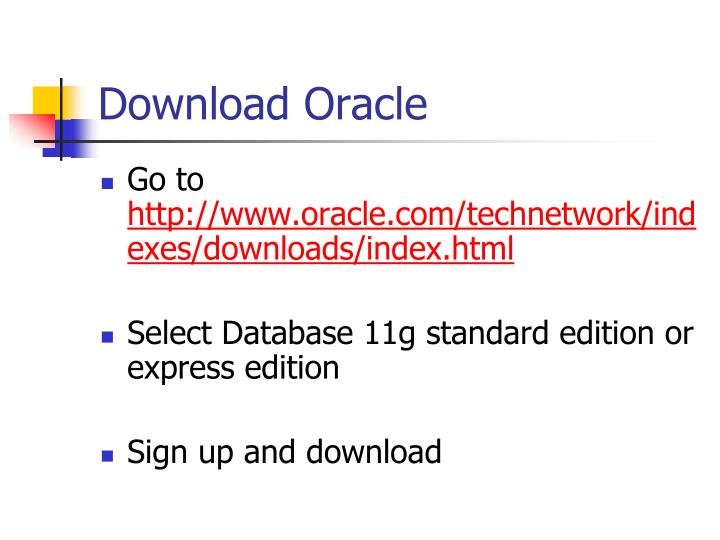 Download Oracle