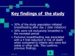 key findings of the study