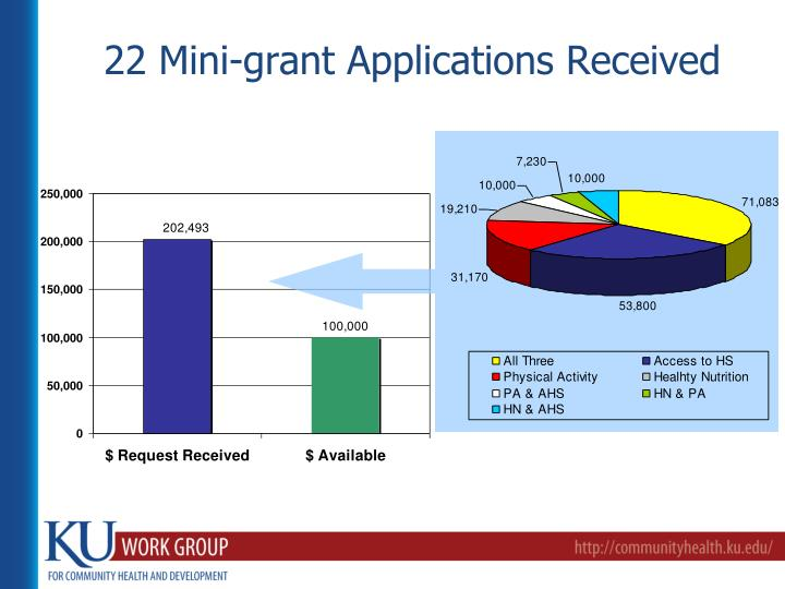 22 Mini-grant Applications Received