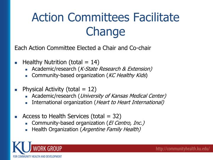 Action Committees Facilitate Change