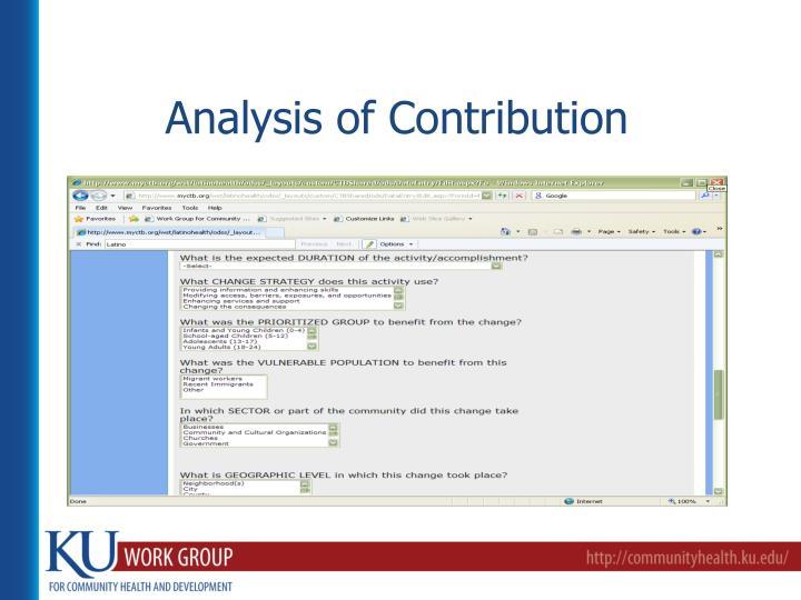 Analysis of Contribution