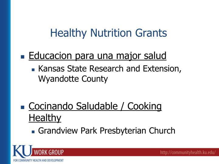 Healthy Nutrition Grants