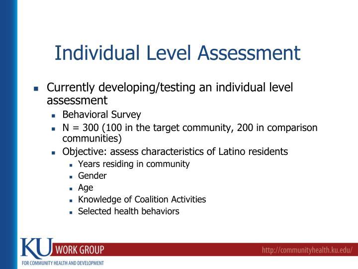 Individual Level Assessment