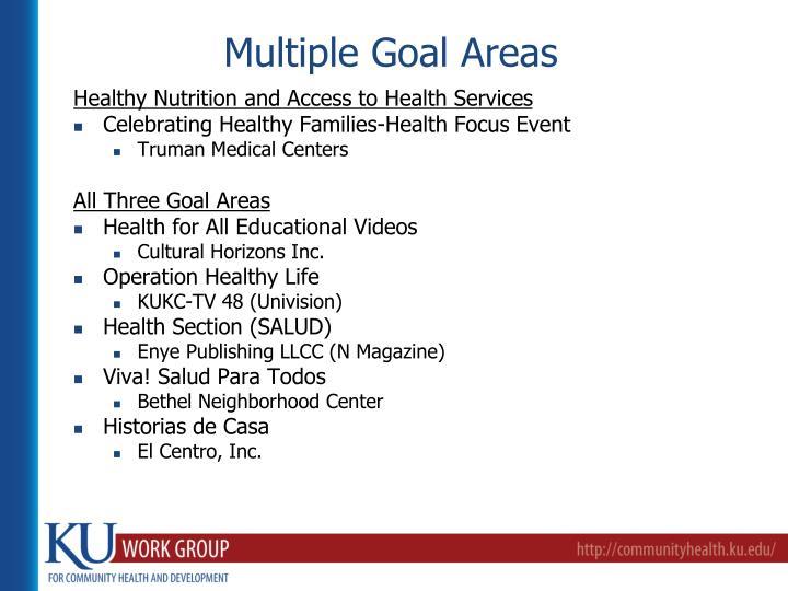 Multiple Goal Areas