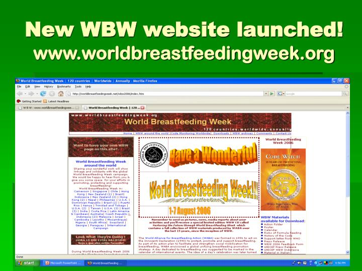 New WBW website launched!