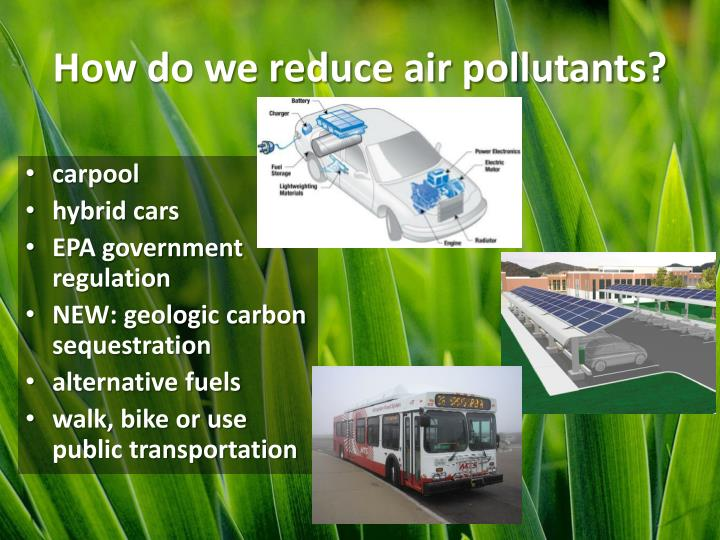 how to reduce air pollutants