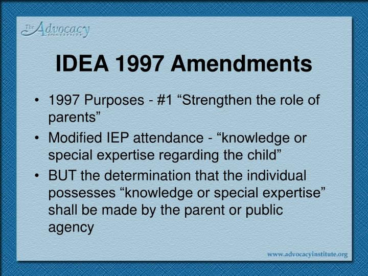 IDEA 1997 Amendments