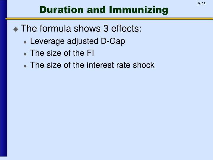 Duration and Immunizing