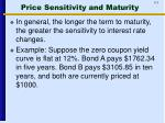 price sensitivity and maturity